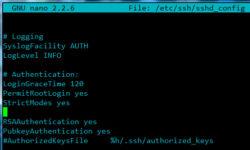 Debian 8 cu root login prin ssh.